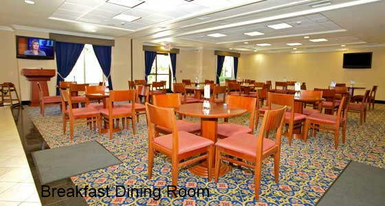 Lathrop CA Holiday Inn Express dining room